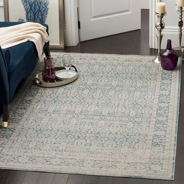 Safavieh Archive Vintage Blue/ Grey Distressed Rug - 6' 7 x 9' 2