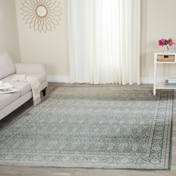 Safavieh Archive Vintage Blue/ Grey Distressed Rug - 8' x 10'