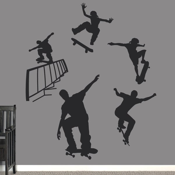 Skateboarding Large Wall Decal Set