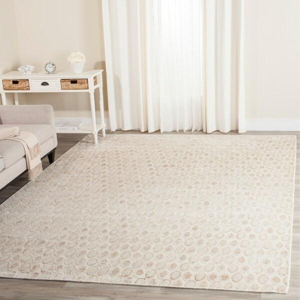 Safavieh Handmade Mirage Modern Beige Wool/ Viscose Area Rug - 8' x 10'
