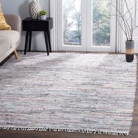 Safavieh Hand-Woven Rag Ivory/ Multi Cotton Rug - 8' x 10'