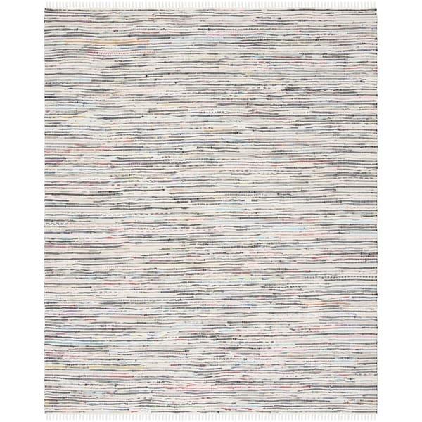 Safavieh Hand-Woven Rag Rug Ivory/ Multi Cotton Rug (9' x 12')