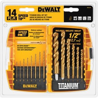 DeWalt DW1341 Drill Bit Set 14-count