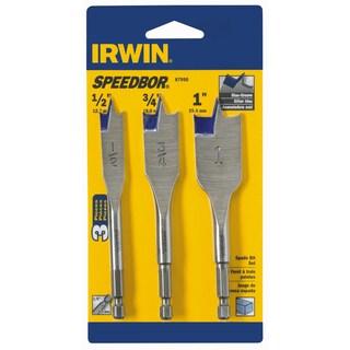 """Irwin 87950 4"""" Blue Groove Speedbor Spade Bit Set 3-count"""
