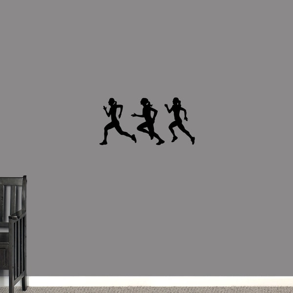 Runners Girls Small Wall Decal Set