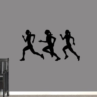 Runners Girls Large Wall Decal S Set