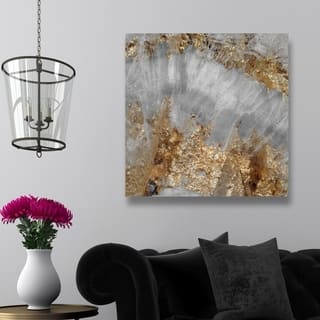 Oliver Gal 'Adore Gold' Abstract Wall Art Canvas Print - Gold, Gray