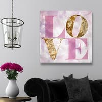 Oliver Gal 'Love Pastel' Typography Wall Art Canvas Print
