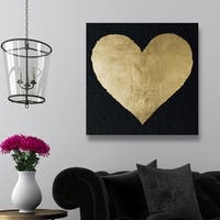Oliver Gal 'Forever and Ever Night' Hearts and Symbols Wall Art Canvas Print - Gold