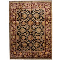 Herat Oriental Indo Hand-knotted Mahal Wool Rug (9'1 x 12'1) - 9'1 x 12'1