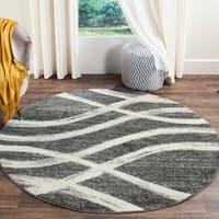 Safavieh Adirondack Modern Charcoal/ Ivory Rug - 6' x 6' Round