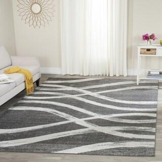 Safavieh Adirondack Modern Charcoal/ Ivory Rug (6' x 6' Square)