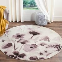 Safavieh Adirondack Vintage Floral Ivory / Purple Rug (6' Round)