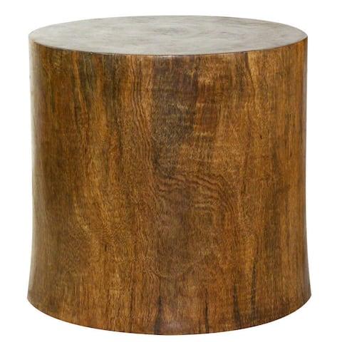 Haussmann® Wood Mango Stump 20 in D x 18 inch High Antique Oak Oil