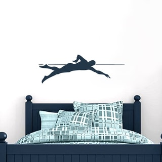 Swimmer 36-inch Wide x 12-inch Tall Wall Decal