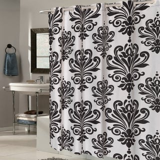 Link to EZ On Fleur De Lis Fabric Shower Curtain/ Liner with Built-in Hooks (70 x 75) Similar Items in Shower Curtains