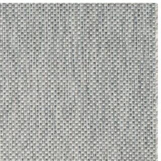 Safavieh Indoor/ Outdoor Courtyard Grey/ Navy Rug (6' 7 Square)
