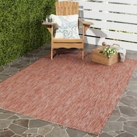 Safavieh Indoor/ Outdoor Courtyard Red/ Red Rug - 6' 7 Square