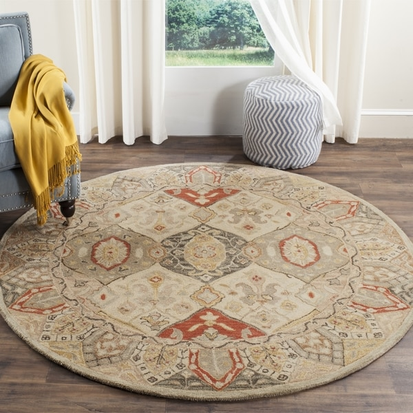 Rugs At Home Goods: Safavieh Handmade Antiquity Beige/ Multi Wool Rug