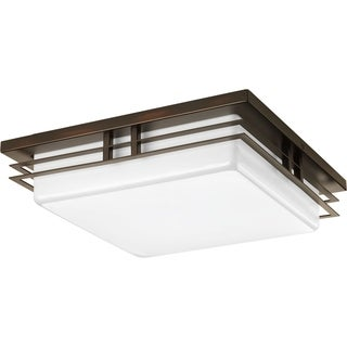 Progress Lighting P3448-2030k9 Helm 2-light Ceiling/ Wall LED Flush Mount with AC LED Module 14-inch