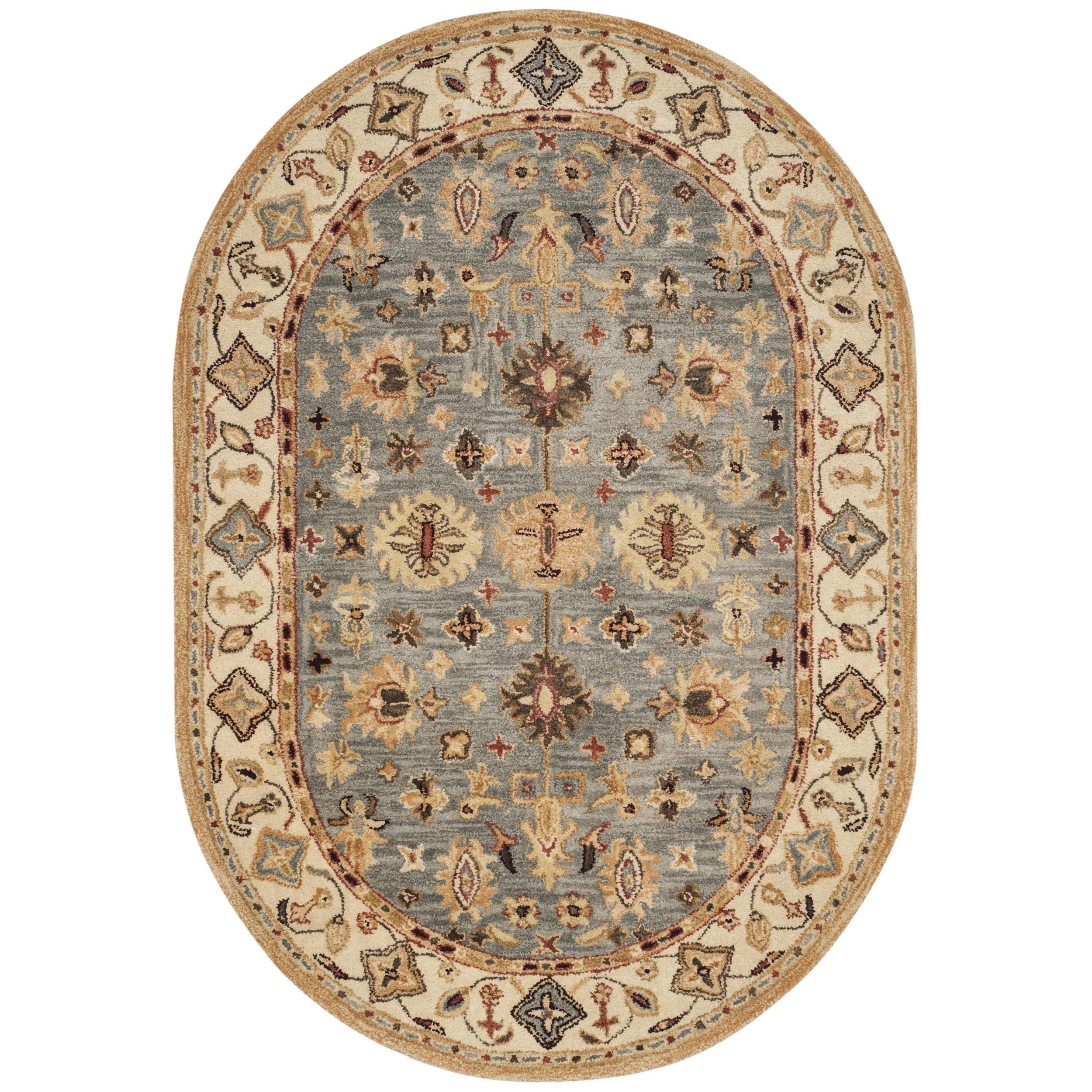 Safavieh Handmade Antiquity Blue/ Ivory Wool Rug