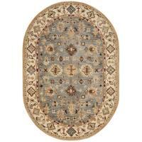 Safavieh Handmade Antiquity Blue/ Ivory Wool Rug - 4' 6 x 6' 6 oval