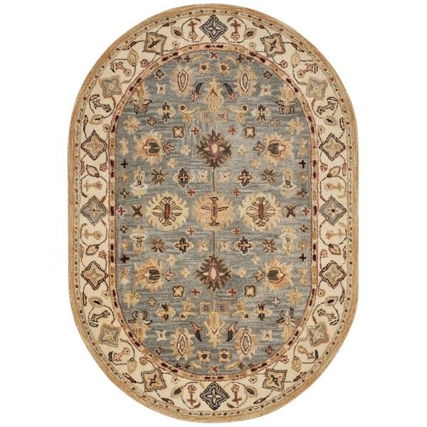 Shop Safavieh Handmade Antiquity Blue/ Ivory Wool Rug