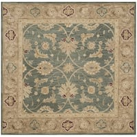 Safavieh Handmade Antiquity Teal Blue/ Taupe Wool Rug - 6' Square
