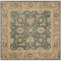Safavieh Handmade Antiquity Teal Blue/ Taupe Wool Rug - 6' X 6' Square