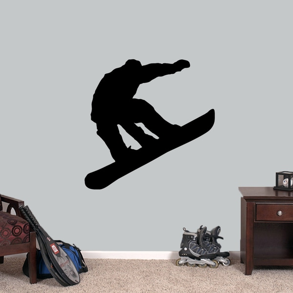 Snowboarder 36-inch Wide x 36-inch Tall Wall Decal