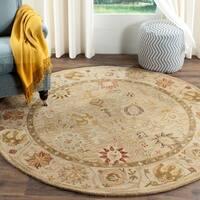 Safavieh Handmade Antiquity Taupe/ Beige Wool Rug - 6' x 6' Round