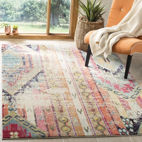 Safavieh Monaco Vintage Bohemian Multicolored Distressed Rug - 6' 7 Square