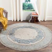 "Safavieh Sofia Vintage Medallion Light Grey/ Blue Rug - 6'7"" x 6'7"" round"