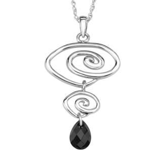 Sterling Silver Black Cubic Zirconia Pendant