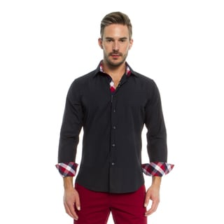 Suslo Couture Men's Romo Navy Button Down