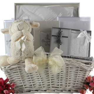 Great Arrivals Beautiful Blessings On Your Christening Day Baby Girl Gift Basket