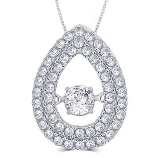 Divina Sterling Silver 1/3ct TGW Cubic Zirconia and Crystal Fashion Pendant|https://ak1.ostkcdn.com/images/products/11628968/P18563461.jpg?impolicy=medium
