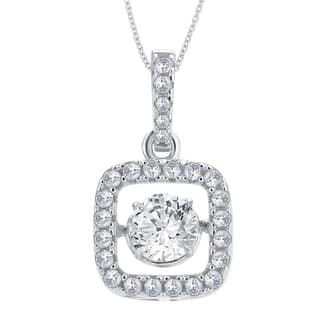 Divina Sterling Silver 1/4ct TGW Cubic Zirconia and Crystal Fashion Pendant|https://ak1.ostkcdn.com/images/products/11628976/P18563459.jpg?impolicy=medium