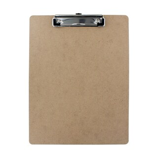 Thornton's Office Products Hardboard Low Profile Letter Size 9 x 12-inch Clipboard