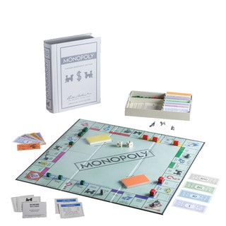 Monopoly Game Linen Book Vintage Edition