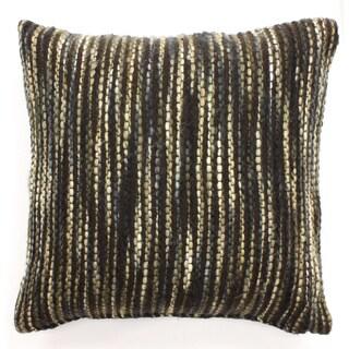Ribbon Yarn Woven Throw Pillow