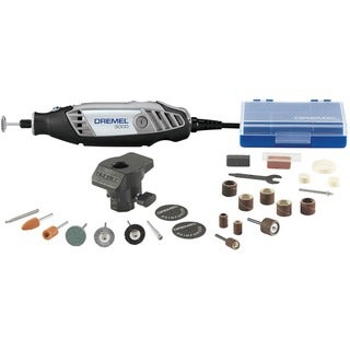 Dremel 3000-1/24 24 Piece Black Rotary Tool Kit With Storage Case