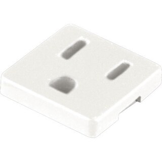 Progress Lighting P8608-30 Undercabinet Accessory Grounded Convenience Outlet - White