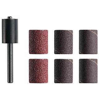 "Dremel TR470 6-count 1/2"" Assorted Grit Trio Sanding Drum Mandrel"