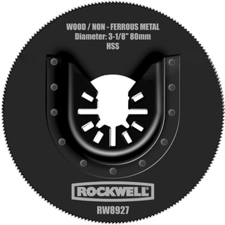 "Rockwell RW8927 3-1/8"" Sonicrafter HSS Saw Blade With Universal Fit"