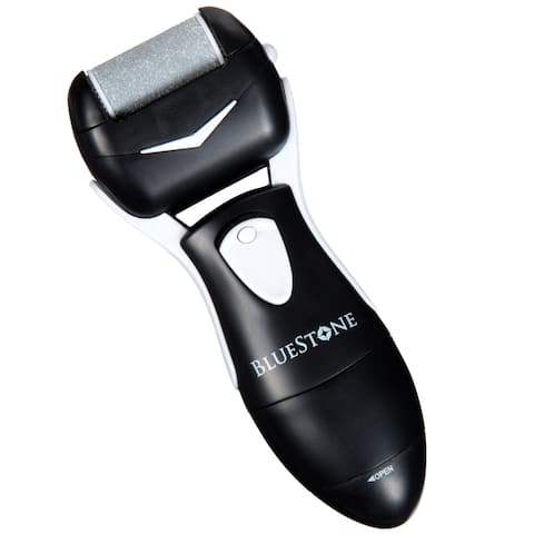 Bluestone Men's Foot Callus Remover with Two Rollers - Black