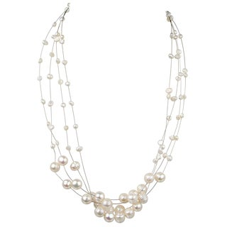 Floating Freshwater Cultured Pearl Necklace