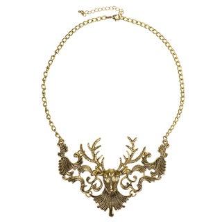 Brass Deer Statement Necklace
