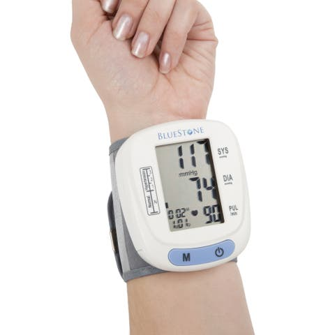 Bluestone Automatic Wrist Blood Pressure Monitor with 120 Reading Memory