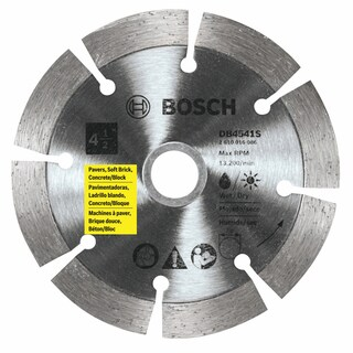 "Bosch DB4541S 4-1/2"" Standard Segmented Rim Diamond Blade"